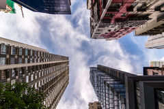 Highrise buildings in Hong Kong Stock Photography