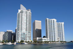 Highrise Buildings in Miami stock photo