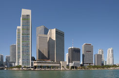 Highrise Buildings in Miami. Highrise Buildings in Downtown Miami, Florida Stock Photo