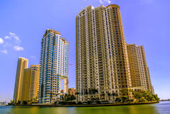 Highrise buildings in Miami, Florida Royalty Free Stock Photos