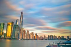Highrise Buildings Near Body of Water Royalty Free Stock Image