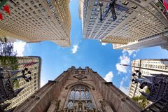 Highrise buildings in New York royalty free stock photo