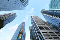 Highrise buildings at Singapore Royalty Free Stock Images