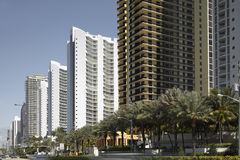 Highrise buildings Sunny Isles Beach Royalty Free Stock Photo