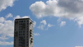 Highrise and clouds time lapse stock video
