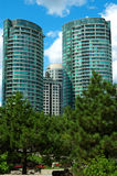 Highrise Condominiums. Highrise Condominum Apartments in Toronto Stock Images