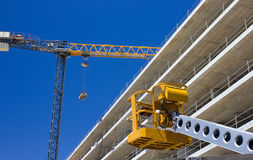 Highrise Construction Site. Flyforms and tower crane Royalty Free Stock Photography