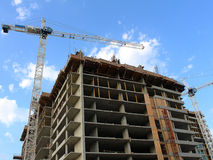Highrise Construction Site Royalty Free Stock Photos