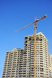 Highrise Construction Site on clear blue sky Royalty Free Stock Image