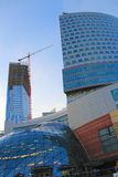 Highrise Construction in Warsaw Royalty Free Stock Photography