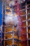 Highrise demolition Royalty Free Stock Images