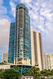 Highrise in downtown Fort Lauderdale, Florida royalty free stock images