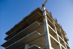 highrise för byggnadskonstruktion Royaltyfri Foto