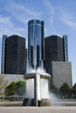 Highrise and fountain Stock Photo