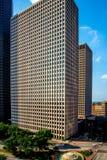 Highrise Gebouwen in Houston van de binnenstad Stock Foto