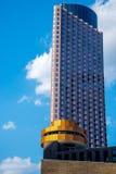 Highrise Gebouwen in Houston van de binnenstad Stock Foto's