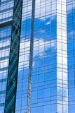 Highrise glass building with sky Royalty Free Stock Photo