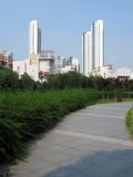 Highrise and green environment. Some highrise buildings in a green environment Stock Images