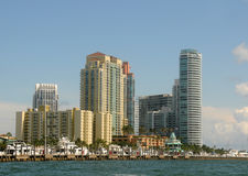 Highrise habitant dans Miami Beach Images libres de droits
