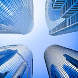 Highrise intersection low angle shot Royalty Free Stock Photography