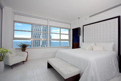 Highrise master bedroom Stock Photography