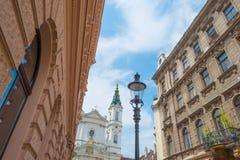 Highrise med lägenheter i Wien Royaltyfri Foto