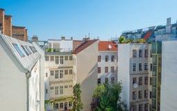 Highrise med lägenheter i Wien Arkivbilder