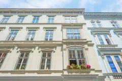 Highrise med lägenheter i Wien Arkivfoto