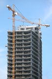 Highrise Office Building. Construction Site Royalty Free Stock Photos