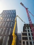 Highrise office buildings under construction stock photos