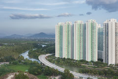 Highrise residential buildings in Hong Kong Royalty Free Stock Photography