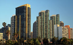Downtown San Diego. Highrise skyscrapers, downtown San Diego, California stock image