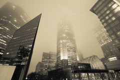 Highrise structure in fog Stock Photography