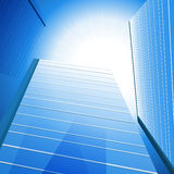 Highrise Sunshine Background Stock Photography