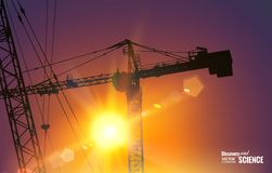 Highrise tower crane Royalty Free Stock Photos