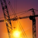 Highrise tower crane Stock Photo