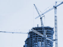 Highrise under construction Royalty Free Stock Photography