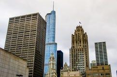 Highrise van Chicago gebouwen Stock Foto's