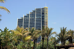 Highrise van Durban royalty-vrije stock foto