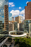 Highrise van Houston gebouwen de van de binnenstad stock foto's
