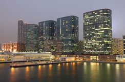 Highrise waterside buildings Royalty Free Stock Images