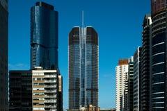 Highrise weerspiegelde gebouwen in Brisbane Royalty-vrije Stock Foto's