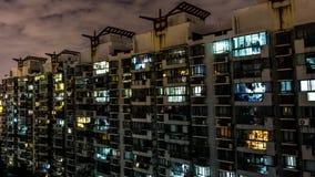 Highrise Wohngebäude Shanghais stock video