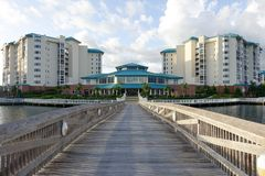 Highrise-Wohnungs-Fort Myers Florida Stockfotografie