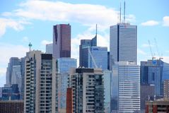 Highrise Wolkenkrabbers in Toronto, Canada Stock Afbeelding