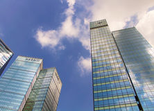 Highrisegebäude in BGC Bonifacio Global City, Philippinen Stockfoto