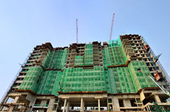 Highrisekonstruktionsplats Arkivbild