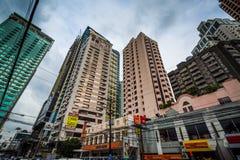 Highrises along Makati Avenue, in Makati, Metro Manila, The Phil Royalty Free Stock Images