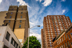 Highrises in Baltimore, Maryland. Highrises in downtown Baltimore, Maryland royalty free stock photo