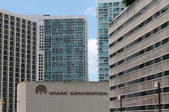 Highrises céntricos de Miami Foto de archivo